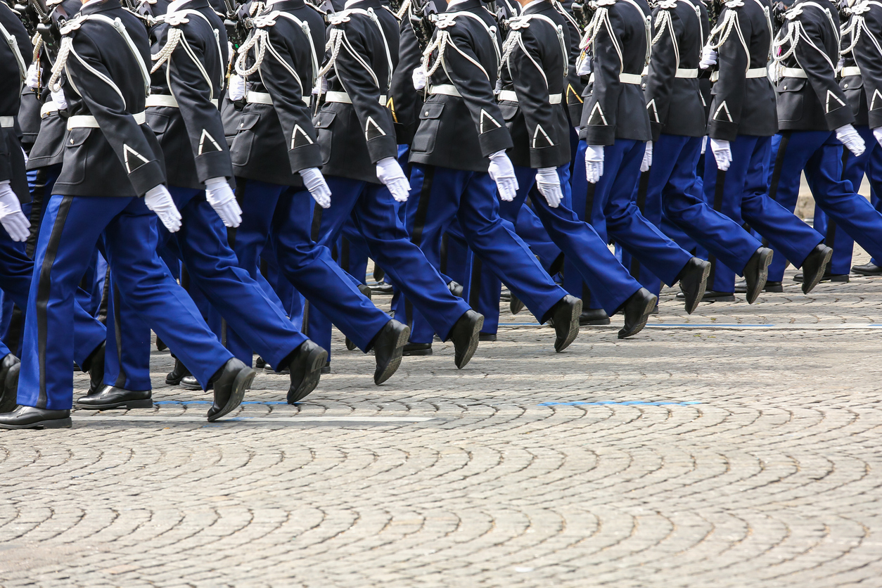 Military parade during the ceremonial